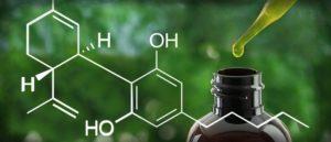 Molécule de CBD huile