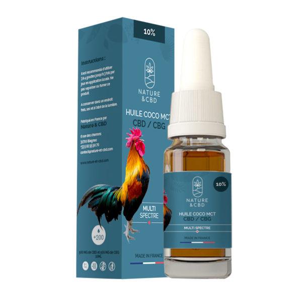 HUILE MCT Coco Bio - CBD/CBG 10%